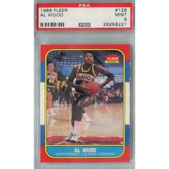 1986/87 Fleer Basketball #128 Al Wood PSA 9 (MT) *6221 (Reed Buy)