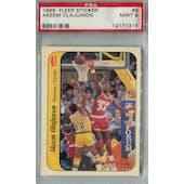 1986/87 Fleer Basketball Sticker #9 Akeem Olajuwon PSA 9 (MT) *1315 (Reed Buy)