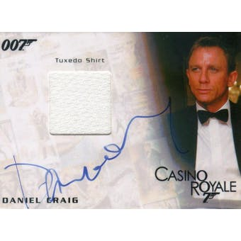Daniel Craig 2010 Rittenhouse 007 Casino Royale James Bond Tuxedo Shirt #/150 (Reed Buy)