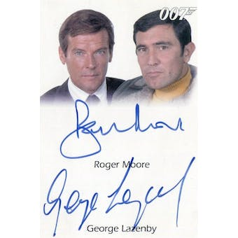 Roger Moore/George Lazenby 2009 Rittenhouse 007 James Bond Dual Signed (Reed Buy)