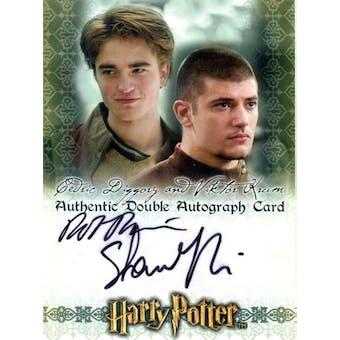 Robert Pattinson/Stanislav Janevski Artbox Harry Potter 3D Cedric Diggory/Viktor Krum Autograph (Reed Buy)
