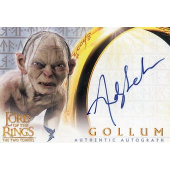 Andy Serkis Topps LOTR The Two Towers Gollum (Reed Buy)