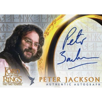 Peter Jackson Topps LOTR The Two Towers Autograph (Reed Buy)