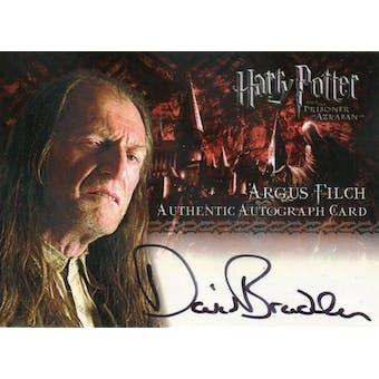 David Bradley Artbox Harry Potter Prisoner Azkaban Argus Filch Autograph (Reed Buy)