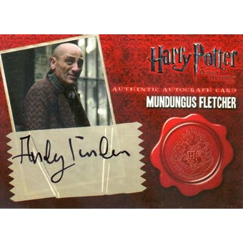 Andy Linden Artbox Harry Potter Deathly Hallows Mundungus Fletcher Autograph (Reed Buy)