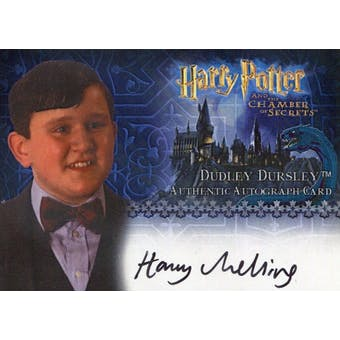 Harry Melling Artbox Harry Potter Chamber of Secrets Dudley Dursley Autograph (Reed Buy)