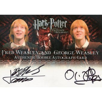 James/Oliver Phelps Artbox Harry Potter Prisoner of Azkaban Fred/George Weasley Dual Autograph (Reed Buy)