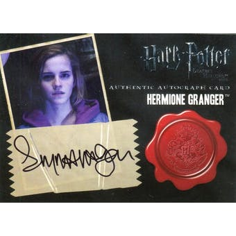Emma Watson Artbox Harry Potter Deathly Hallows Hermione Granger Autograph (Reed Buy)