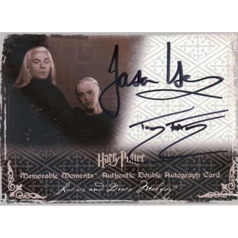 Jason Isaacs/Tom Felton Artbox Harry Potter Lucius and Draco Malfoy Dual Signed (Reed Buy)