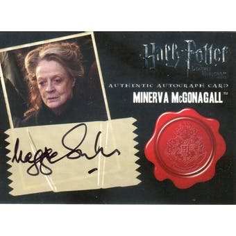 Dame Maggie Smith Artbox Harry Potter Deathly Hallows Minerva McGonagall Autograph (Reed Buy)