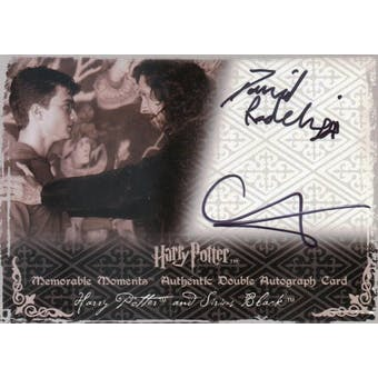 Daniel Radcliffe/Gary Oldman Artbox Harry Potter/Sirius Black Dual Autograph (Reed Buy)