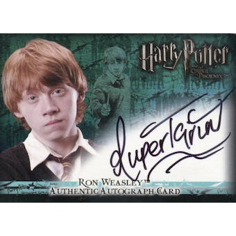Rupert Grint Artbox Harry Potter Order of the Phoenix Ron Weasley Autograph (Reed Buy)