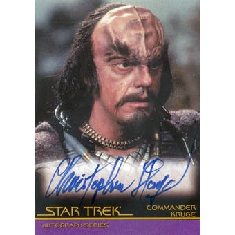 Christopher Lloyd 2007 Rittenhouse Star Trek III Search for Spock A14 Kruge Autograph (Reed Buy)