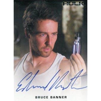 Edward Norton 2008 Rittenhouse The Incredible Hulk Bruce Banner Autograph (Reed Buy)