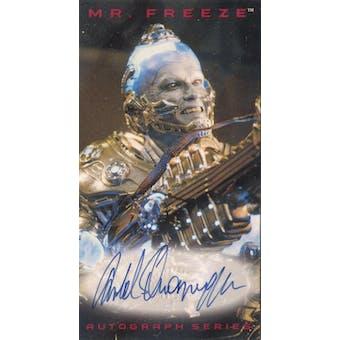 Arnold Schwarzenegger 1997 Skybox Batman and Robin Mr. Freeze Tall Boy Autograph (Reed Buy)