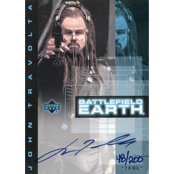 John Travolta 2000 Upper Deck Battlefield Earth #JT1 Terl Autograph #/200 (Reed Buy)