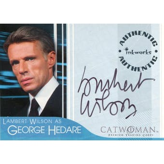 Lambert Wilson Inkworks Catwoman #A-1 George Hedare Autograph (Reed Buy)