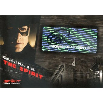 Gabriel Macht 2008 Inkworks The Spirit #A1 as The Spirit Autograph (Creased) (Reed Buy)