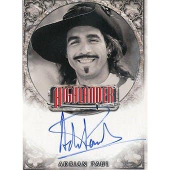 Adrian Paul Rittenhouse The Highlander #IA2 Duncan MacLeod Autograph (Reed Buy)