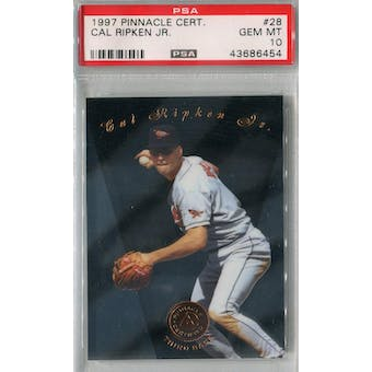 1997 Pinnacle Certified Baseball #28 Cal Ripken Jr PSA 10 (GM-MT) *6454 (Reed Buy)