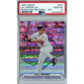 1999 Topps Finest Baseball #FR7 Derek Jeter PSA 10 (GM-MT) *5663 (Reed Buy)