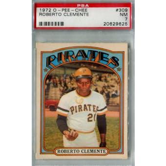 1972 O-Pee-Chee Baseball #309 Roberto Clemente PSA 7 (NM) *9625 (Reed Buy)