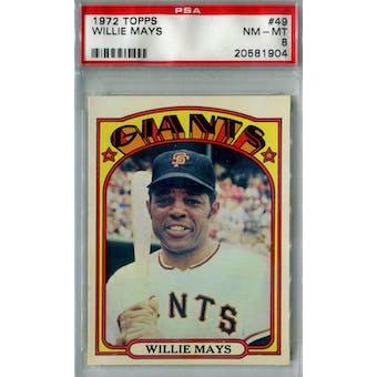 1972 Topps Baseball #49 Willie Mays PSA 8 (NM-MT) *1904 (Reed Buy)