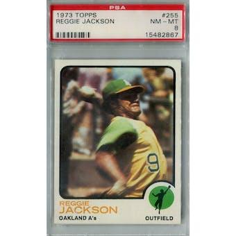 1973 Topps Baseball #255 Reggie Jackson PSA 8 (NM-MT) *2867 (Reed Buy)