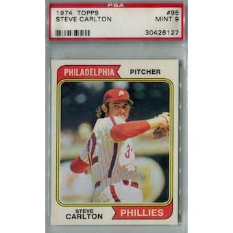 1974 Topps Baseball #95 Steve Carlton PSA 9 (Mint) *6127 (Reed Buy)