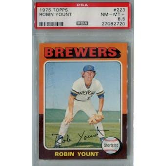 1975 Topps Baseball #223 Robin Yount RC PSA 8.5 (NM-MT+) *2720 (Reed Buy)