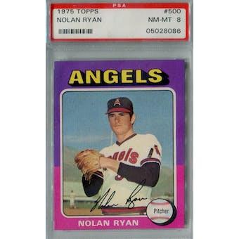 1975 Topps Baseball #500 Nolan Ryan PSA 8 (NM-MT) *8086 (Reed Buy)