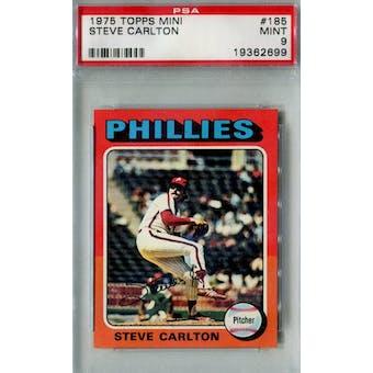 1975 Topps Mini Baseball #185 Steve Carlton PSA 9 (Mint) *2699 (Reed Buy)