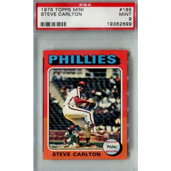 1975 Topps Mini Baseball #185 Steve Carlton PSA 9 (Mint) *2699 (Reed Buy)