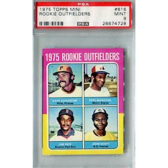 1975 Topps Mini Baseball #616 Jim Rice RC PSA 9 (Mint) *4728 (Reed Buy)