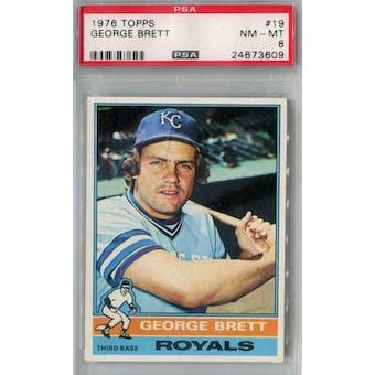1976 Topps Baseball #19 George Brett PSA 8 (NM-MT) *3609 (Reed Buy)