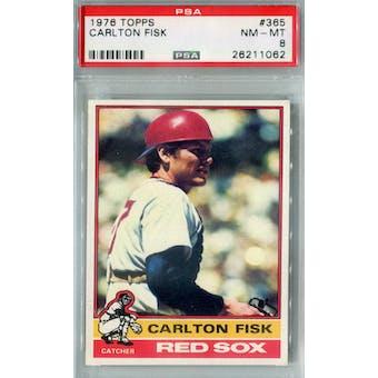 1976 Topps Baseball #365 Carlton Fisk PSA 8 (NM-MT) *1062 (Reed Buy)