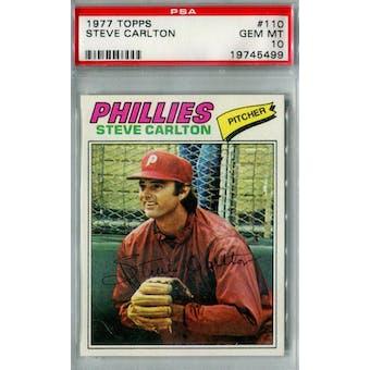 1977 Topps Baseball #110 Steve Carlton PSA 10 (Gem Mint) *5499 (Reed Buy)