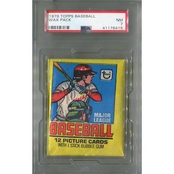 1979 Topps Baseball Wax Pack PSA 7 (NM) *6415 (Reed Buy)