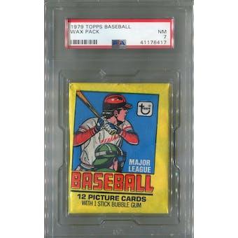 1979 Topps Baseball Wax Pack PSA 7 (NM) *6417 (Reed Buy)
