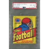 1981 Topps Football Wax Pack PSA 8 (NM-MT) *6487 (Reed Buy)