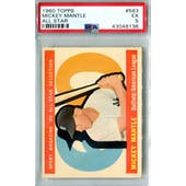 1960 Topps Baseball #563 Mickey Mantle AS PSA 5 (EX) *8136 (Reed Buy)
