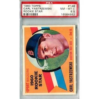 1960 Topps Baseball #148 Carl Yastrzemski RC PSA 8.5 *4662 (Reed Buy)