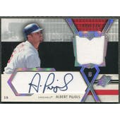 2004 SPx #AP Albert Pujols Swatch Supremacy Signatures Stars Jersey Auto #099/275