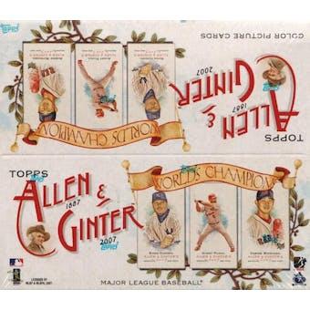 2007 Topps Allen & Ginter Baseball 24-Pack Box