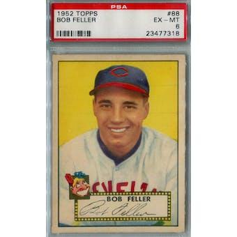 1952 Topps Baseball #88 Bob Feller PSA 6 (EX-MT) *7318 (Reed Buy)