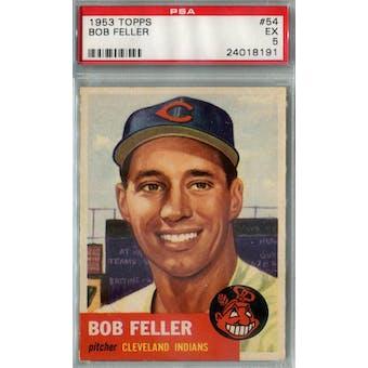 1953 Topps Baseball #54 Bob Feller PSA 5 (EX) *8191 (Reed Buy)