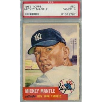 1953 Topps Baseball #82 Mickey Mantle PSA 4 (VG-EX) *2767 (Reed Buy)