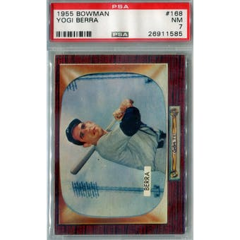1955 Bowman Baseball #168 Yogi Berra PSA 7 (NM) *1585 (Reed Buy)