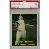 1957 Topps Baseball #95 Mickey Mantle PSA 3 (VG) *5928 (Reed Buy)