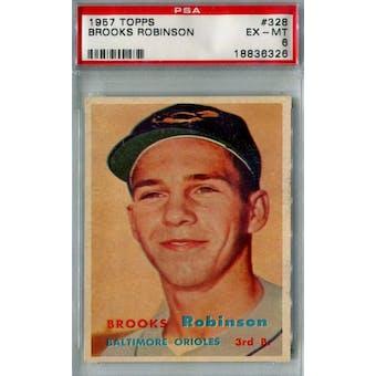 1957 Topps Baseball #328 Brooks Robinson RC PSA 6 (EX-MT) *6326 (Reed Buy)